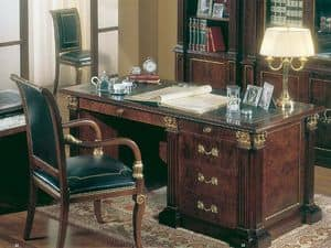412, Desk in burr ash, classic luxury, for office