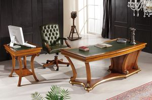 Art. 1250 LEATHER, Classic desk with leather top