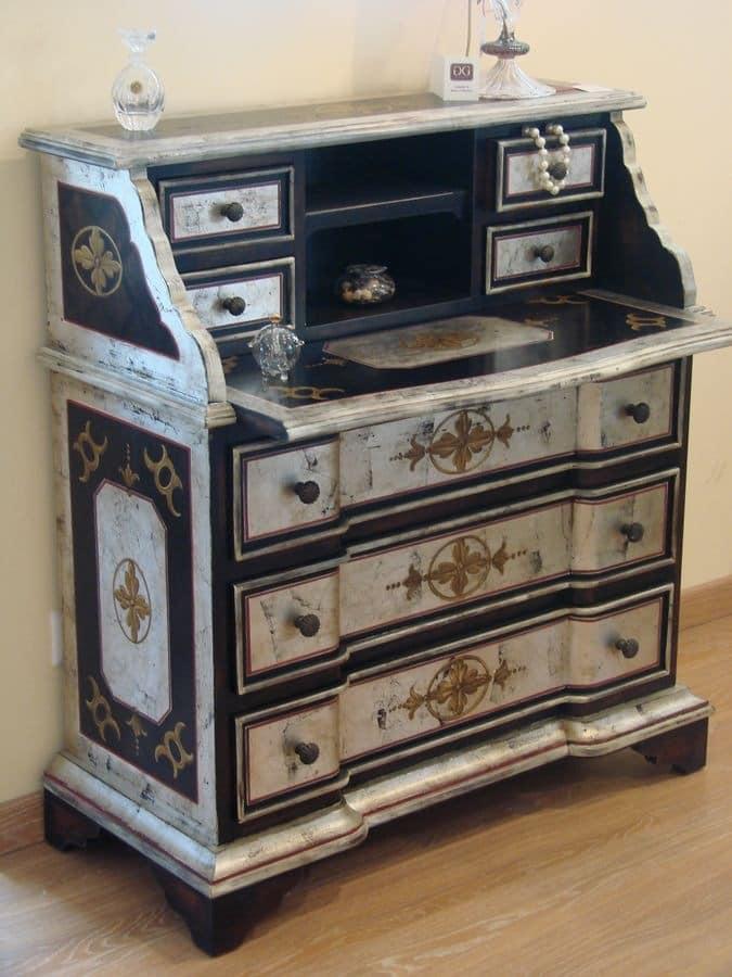 Art. 540, Venetian desk for home, desk for the classic bedroom