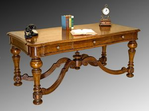 Art. 837 desk, Desk with three drawers, classic style