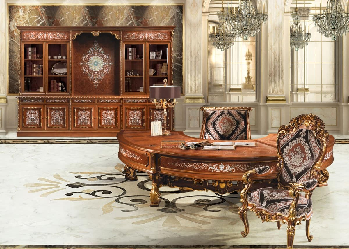 Classic furniture office magnificent carvings fine Classic office furniture