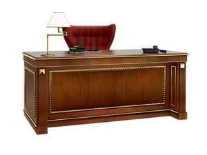 Picture of Desk SCR006F Firenze, writing desk in wood