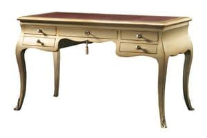 Eleonora FA.0047, Desk with 5 drawers, Louis XV style