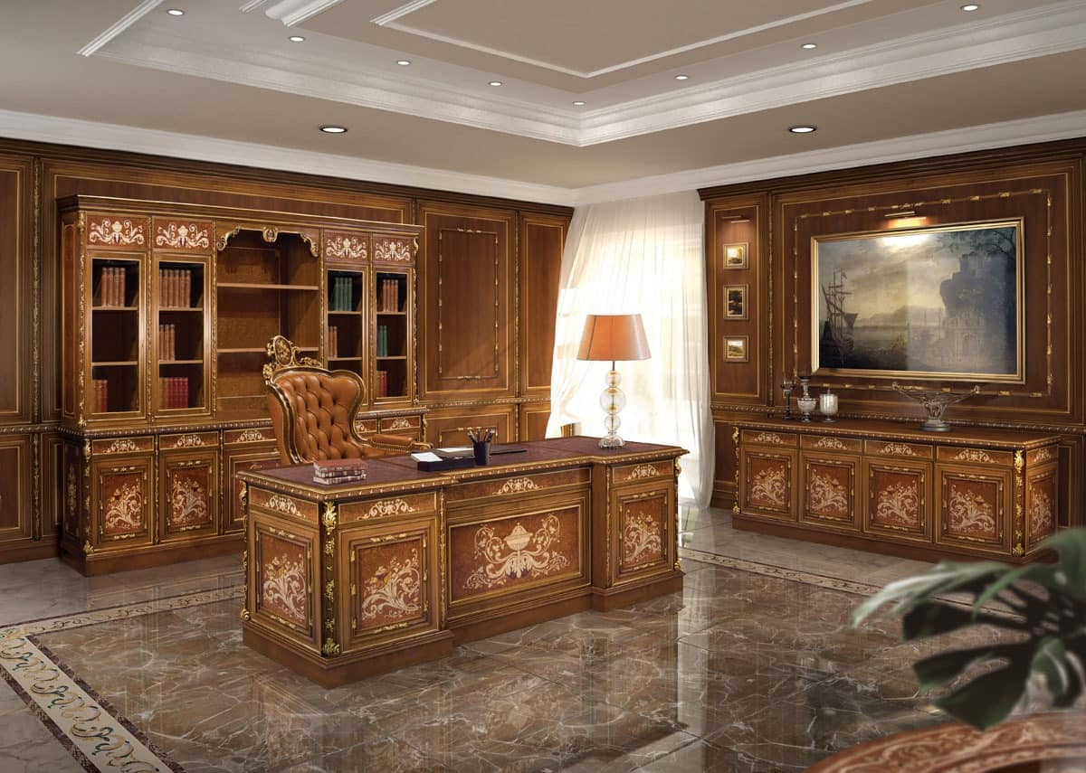 Office furniture in classic luxury style idfdesign - Mobili luxury design ...