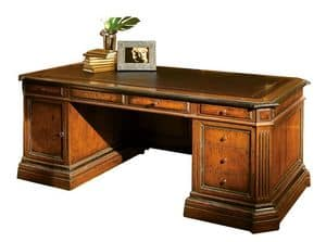 Londa ME.0950, Walnut desk, leather top, for office in classic style