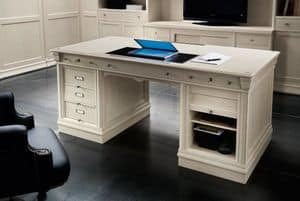 Victoria Art. 03.805, Desk with 3 drawers and compartment with roller door