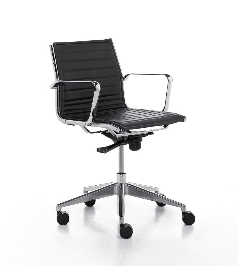 Aalborg Line 02, Padded task chair in polyurethane, for office