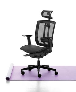 Air One 01 PT, Executive chair with headrest and mesh backrest