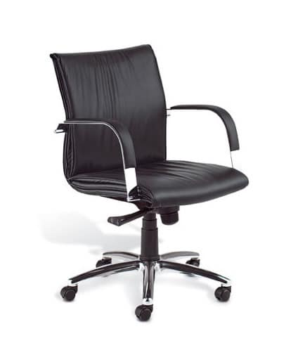 Berlin 02, Executive chair with high backrest for office