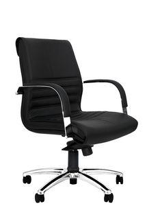 Dafne CR medium, Office chair with chromed armrests, padded