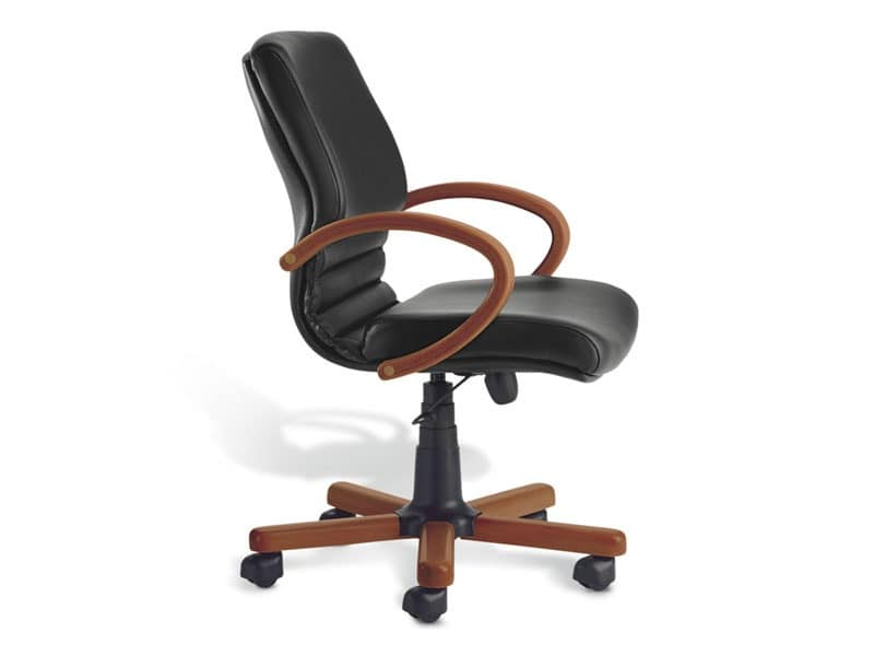 Digital WD 02, Executive chair, wooden base, for office
