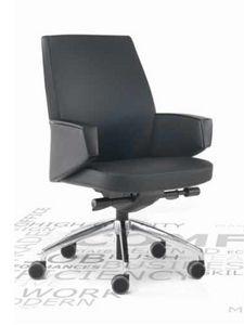 Grey-D, Swivel office armchair