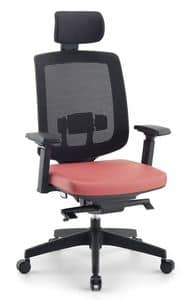 Jack 01 PT, Directional office chair, with headrest