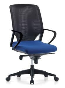Karina AIR 01, Managerial office chair, mesh backrest
