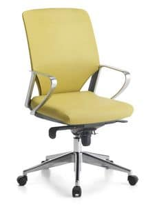 Karina Soft ALU 01, Directional office chair, base with wheels