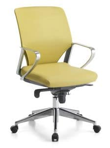 Karina Soft ALU 02, Executive chair, aluminum armrests, for office
