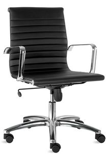 Luxor-T medium, Chair in imitation leather, for executive office