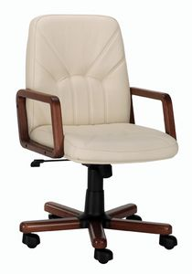 Queen 501, Office armchair with wooden base