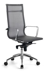 Wind 01, Office chair with wheels, mesh self-supporting covering