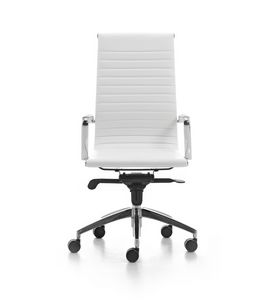 Wind Soft 01, Executive office chair on wheels, aluminum armrests