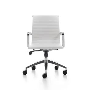 Wind Soft 02, Swivel chair for management Office, in chromed steel