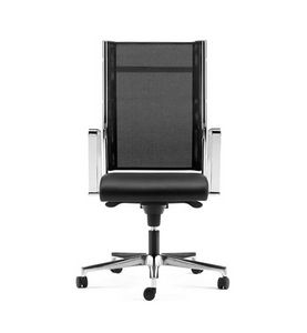SYNCRONET, Executive chair, mesh back, base and armrests in steel