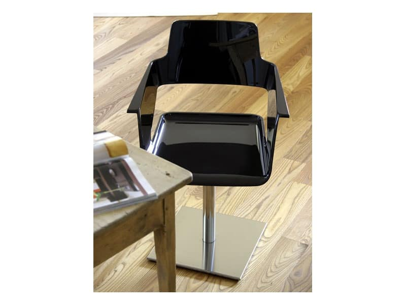 B32 swivel, Swivel chair with nylon shell, for office furnishing