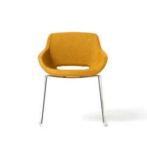 Clea Plus sled base, Padded armchair, with sled base, for office and contract