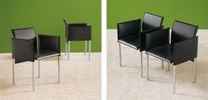 Picture of pabelo, chairs with leather seat