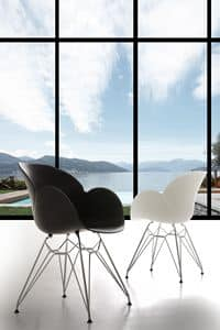 Art. 292 Lotus Metal, Polypropylene and metal armchair, rugged and durable