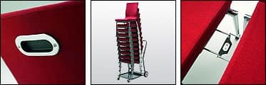 Flair 17/1A, Stacking chair with docking system, for conference