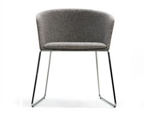Moon Light 663PTN, Small armchair with metal sled base