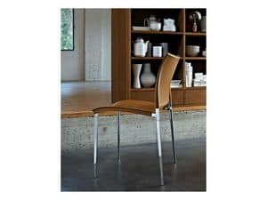 Picture of Sand leather, modern barstool
