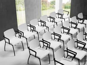 Sunny, Chair for Office and conferences, back in polypropylene