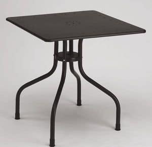 Arturo square table, Square metal table for outdoor, 80x80 cm
