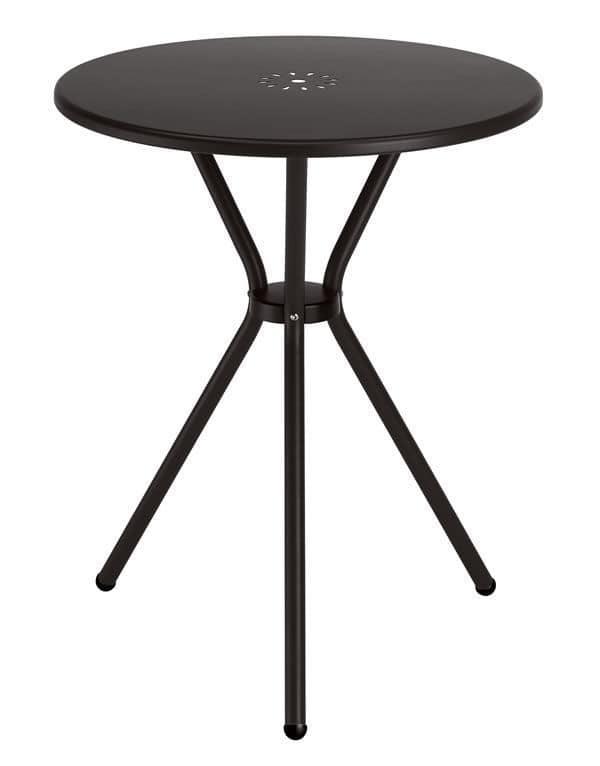 Leo, Metal garden table, 60 cm top diameter