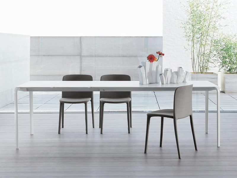 Minimal table extendable table for living room idfdesign for Minimal table design
