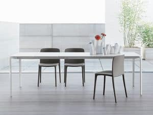 LIGHT, Minimal table, extendable, table for living room