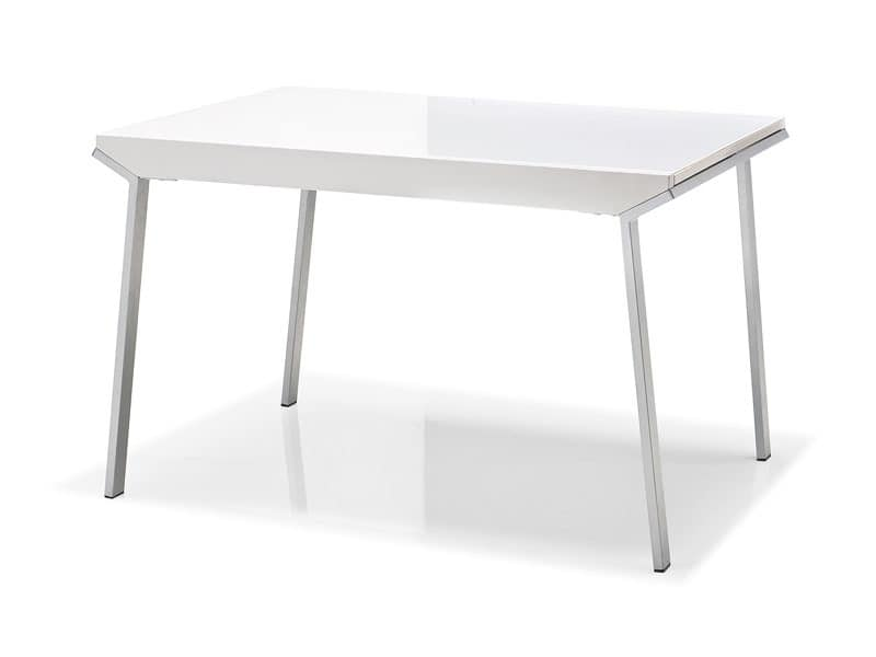 Modern tables with top in plastic material meeting room for Table 70x70 extensible