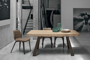 GRECALE TA1C1, Extending table with metal legs