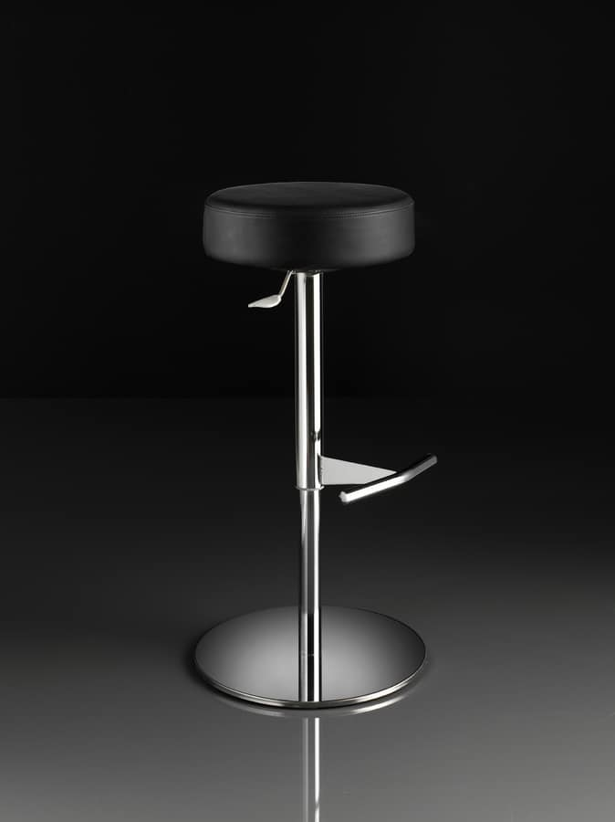 ART. 244/B CAP, Stool with round seat, gas lift, for restaurants