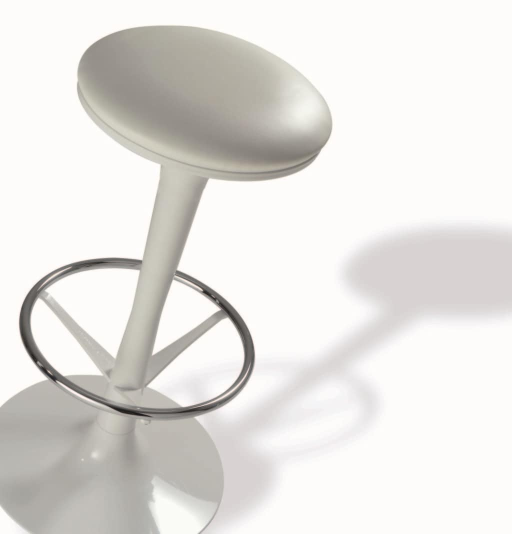 BOBA Vintage, Stool with upholstered round seat, for piano bar