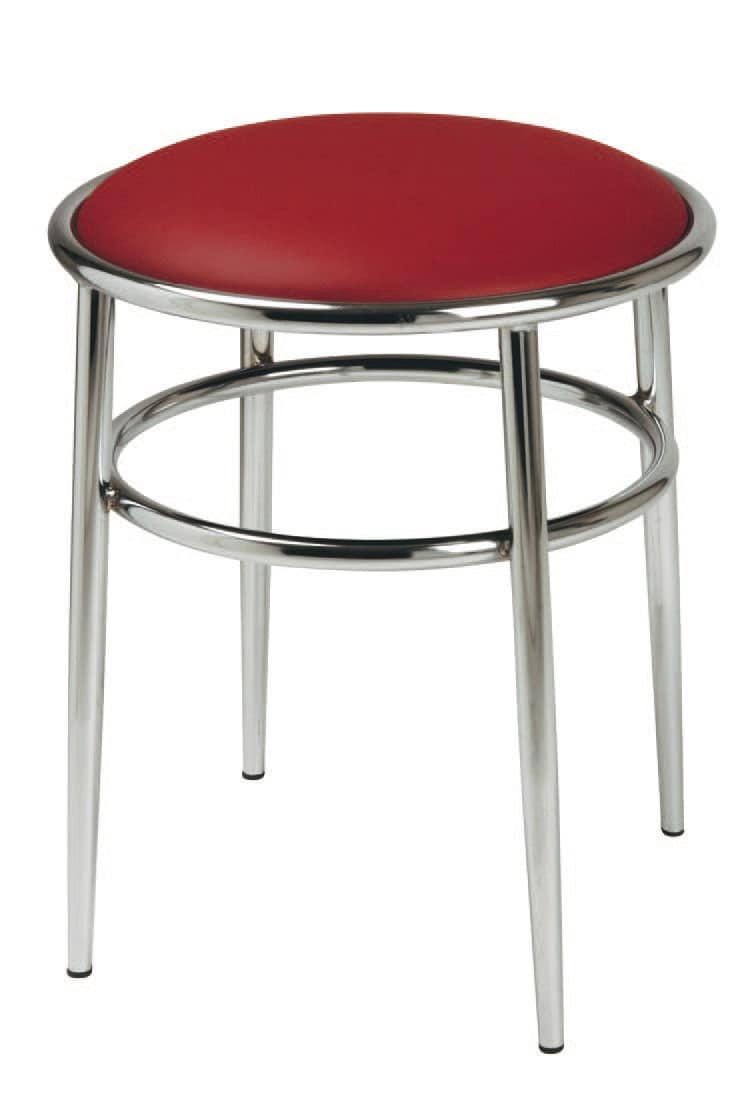 SG 028 / H, High stool with round seat upholstered, for pubs