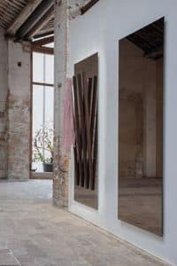 ALICANTE, Rectangular mirror, with integrated hanger, for entrance
