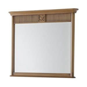 Art. CA721, Rectangular mirror with frame, ideal for chest of drawers