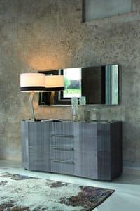ELYSEE rectangular mirror, Design mirror with thin frame