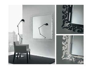 k199 mirror, Mirror with decorated frame in plexiglas