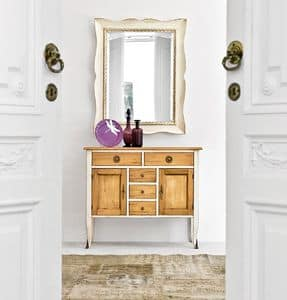 MARTE Art. 4956, Decorative mirror with lacquered wooden frame, classic