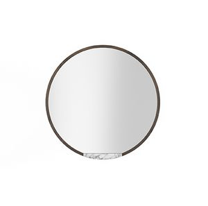 Mirror Coco 055, Round mirror with marble shelf