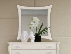 MONTE CARLO / mirror, Mirror with white lacquered frame